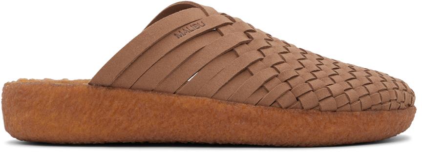 Brown Vegan Suede Colony Sandals
