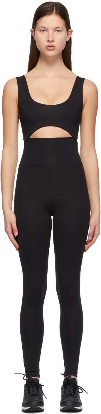 Black Cut-Out Bodysuit