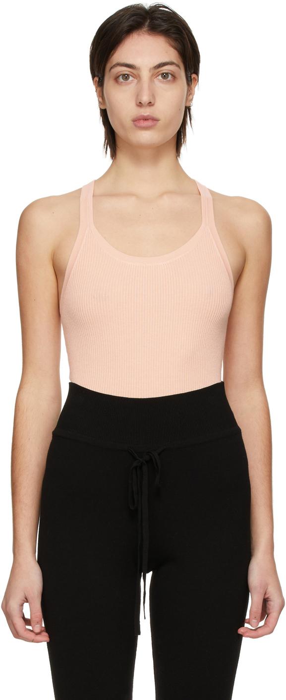 Pink Knit Tank Bodysuit