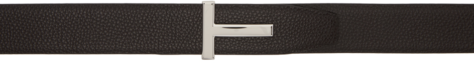 Reversible Brown & Black T Icon Belt