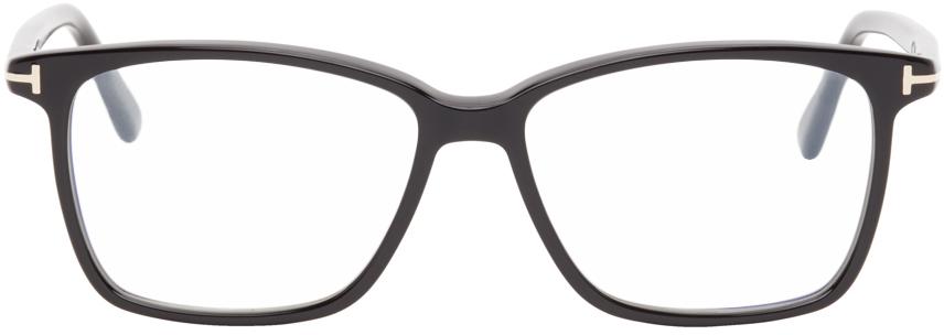 Black Blue Block Soft Square Glasses