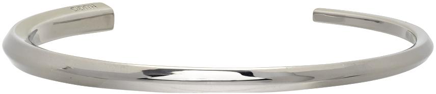 Silver E-Chopstick Bangle Bracelet