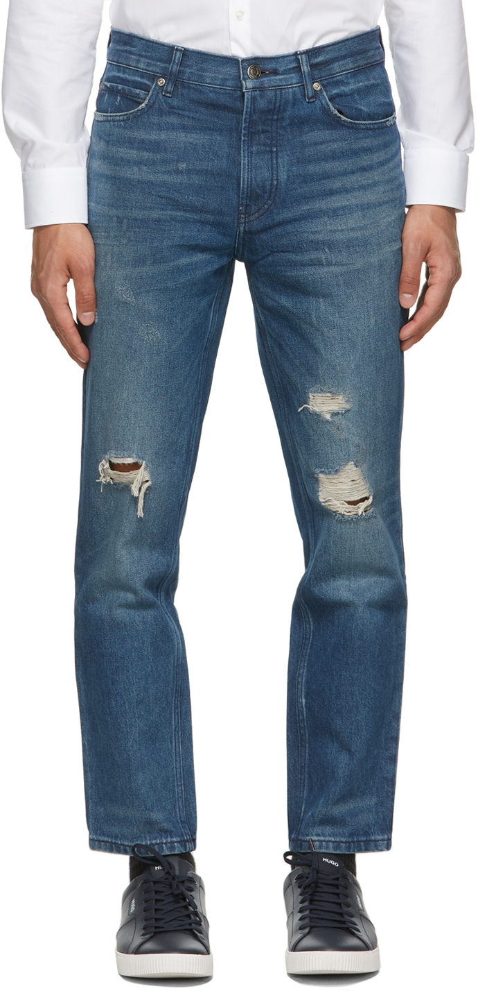 Blue Distressed 634 Jeans