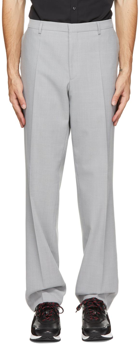Grey Virgin Wool Simmons212 M&M Trousers