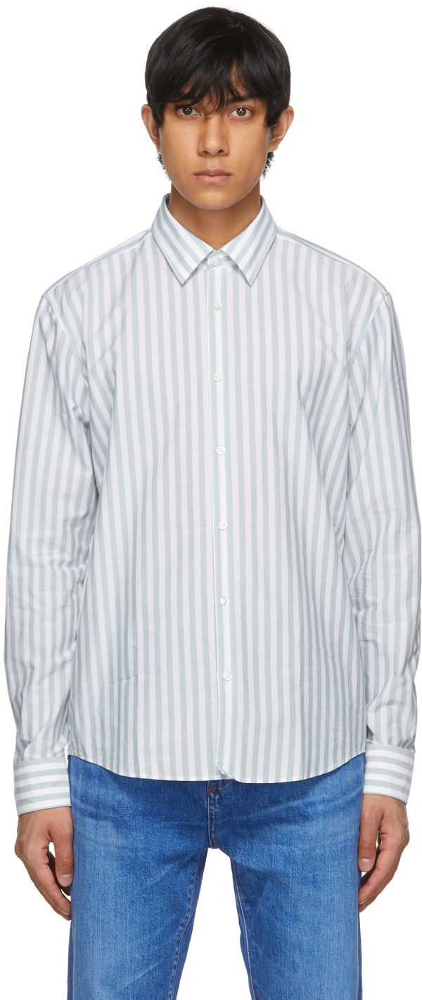 Blue & White Striped Ermo Shirt