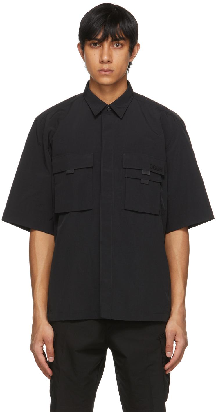Black Ermilio Short Sleeve Shirt