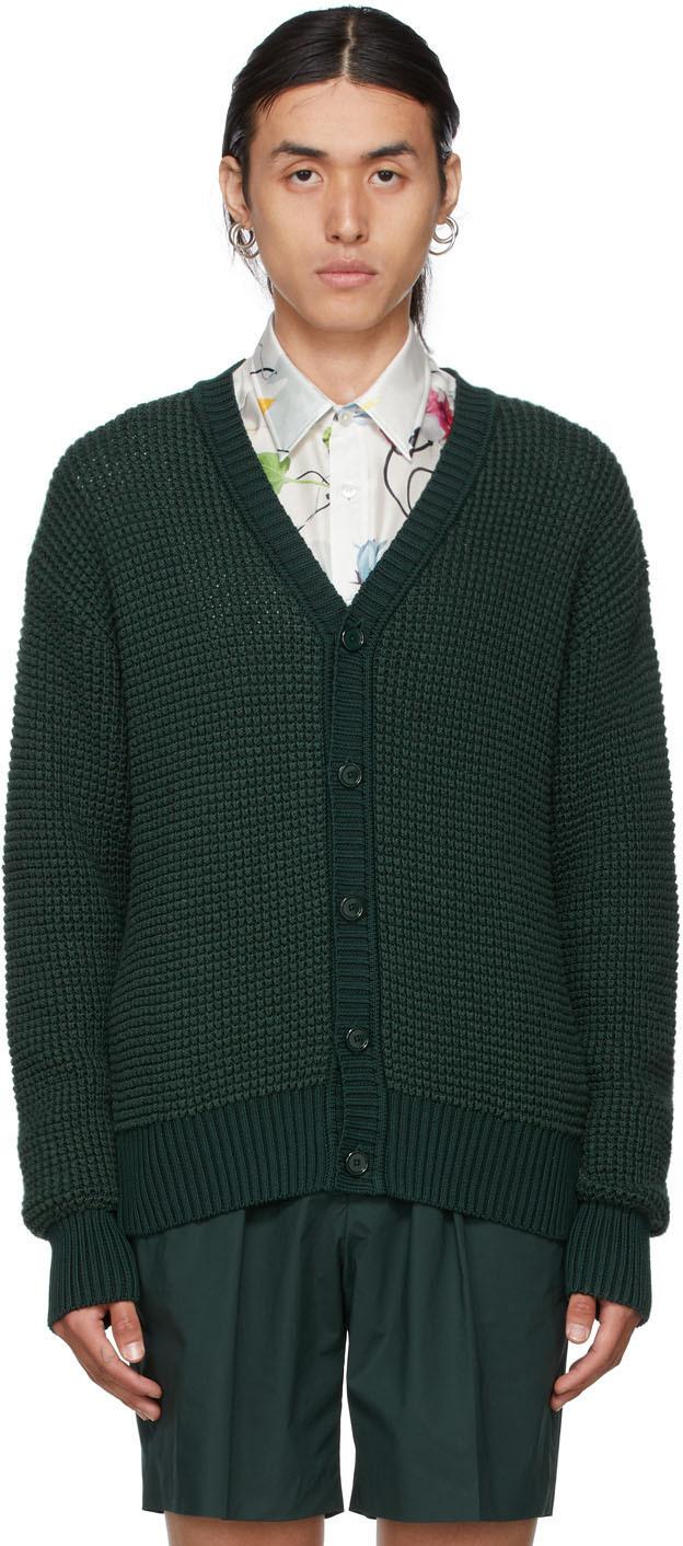 Green Silk Cardigan