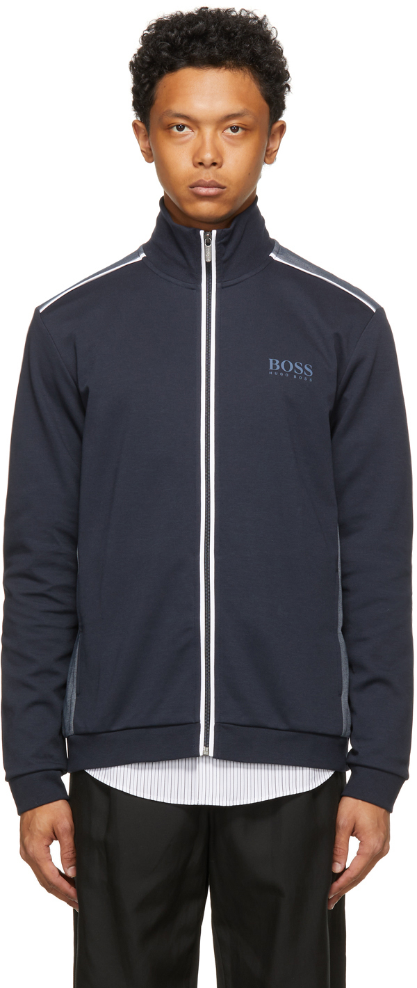 Navy Track Sweater