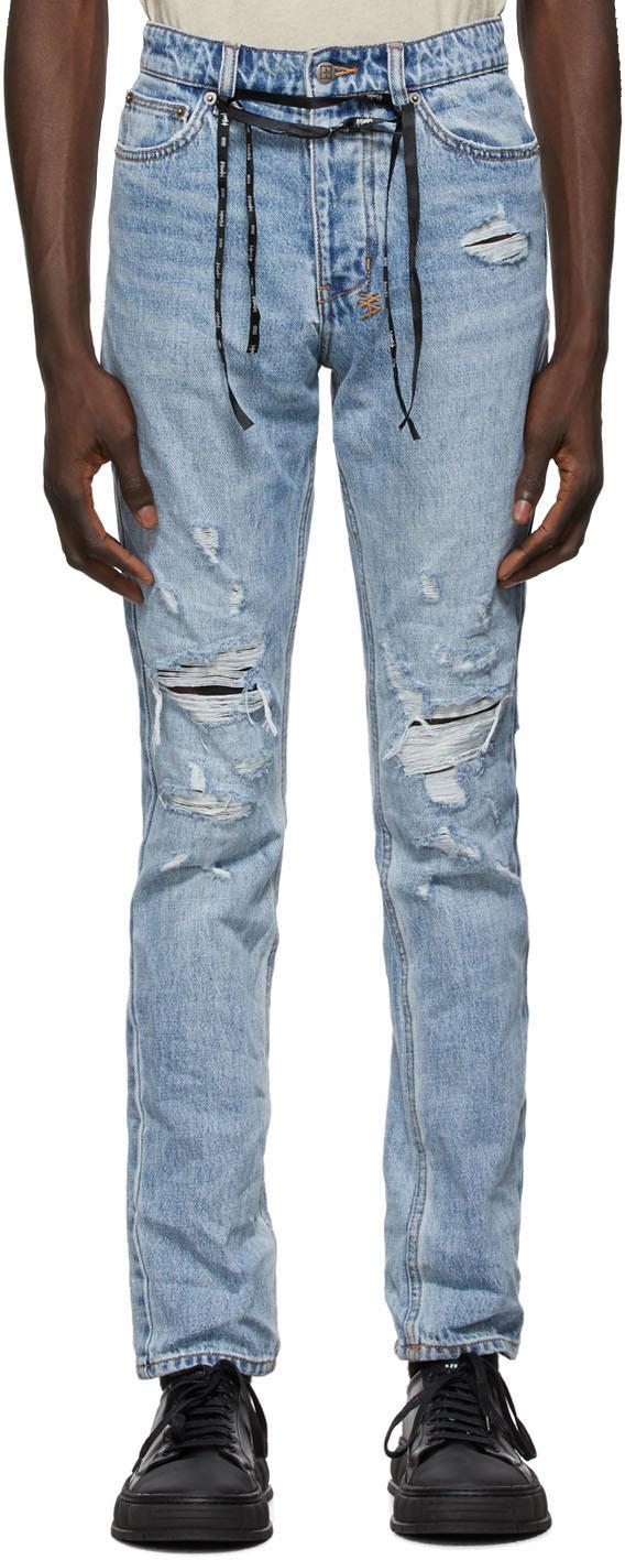Ksubi 蓝色 Chitch 做旧牛仔裤