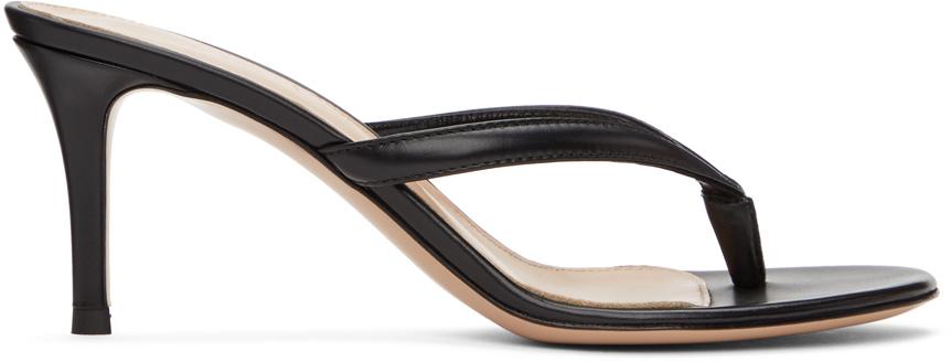 Black Calypso 70 Heeled Sandals