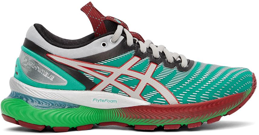 Green & Silver FN1-S Gel-Nimbus 22 Sneakers