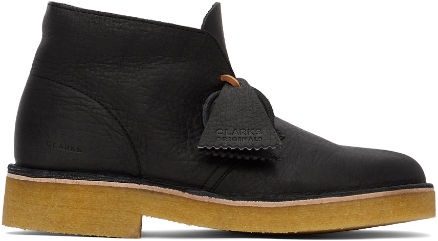 Black Leather 221 Desert Boots