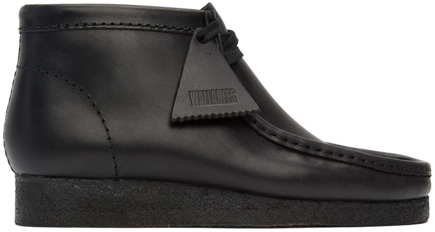 Black Wallabee Desert Boots