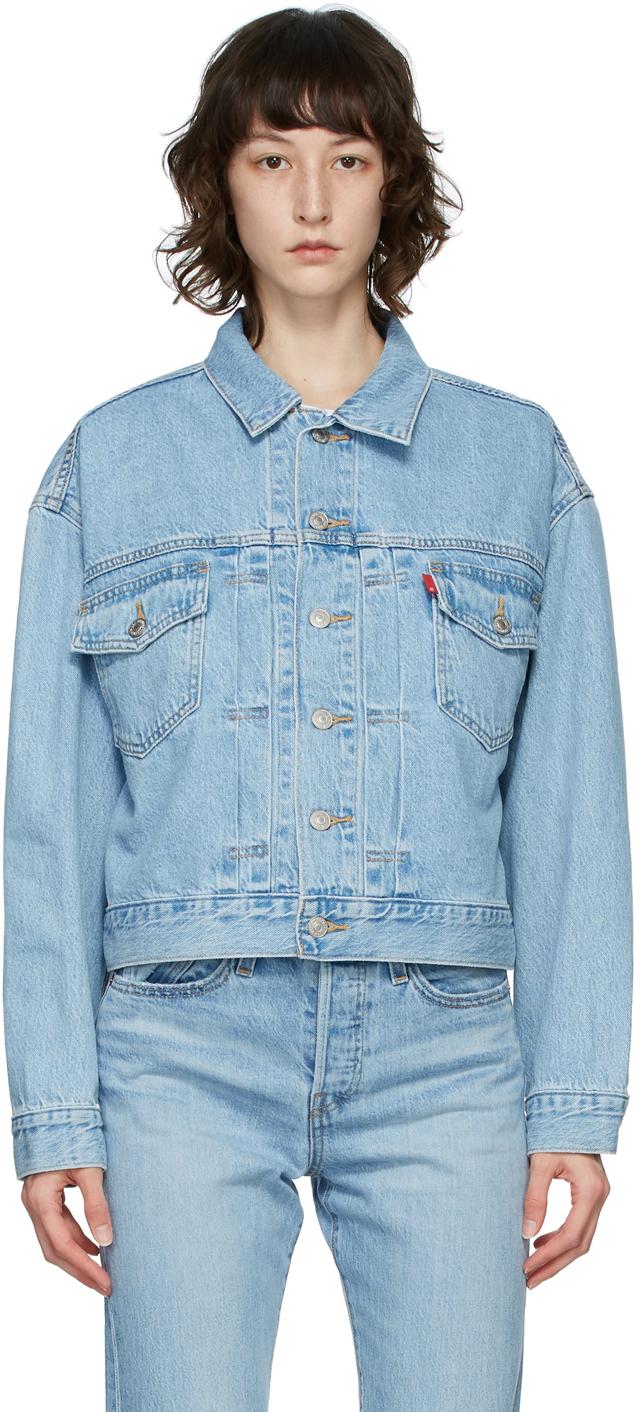 Levi's Blue Denim Heritage-Fit Trucker Jacket