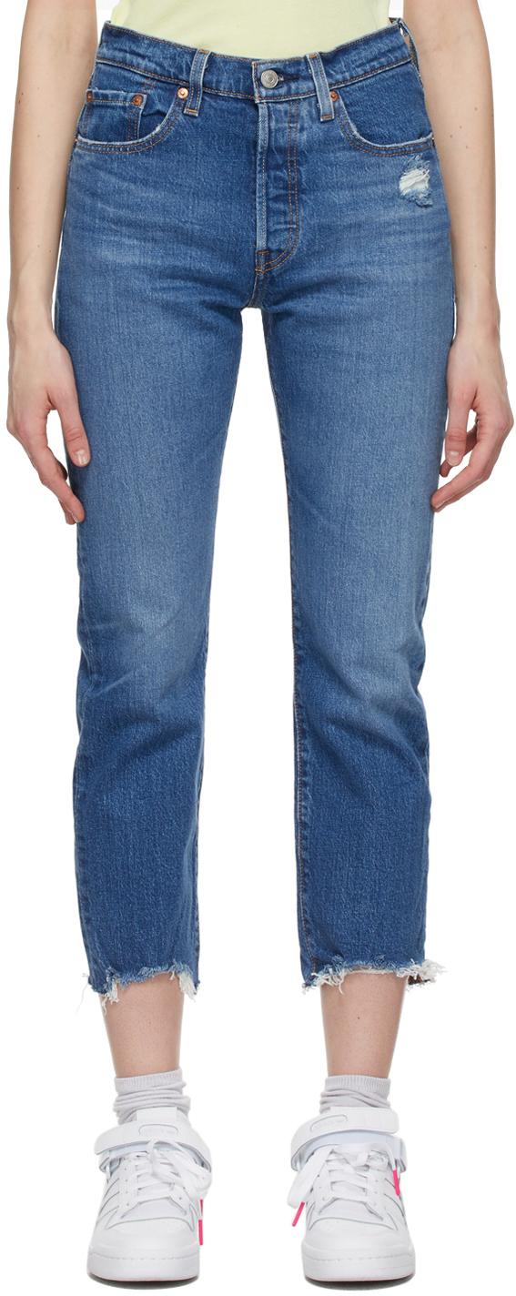 Levi's Indigo 501 Cropped Jeans