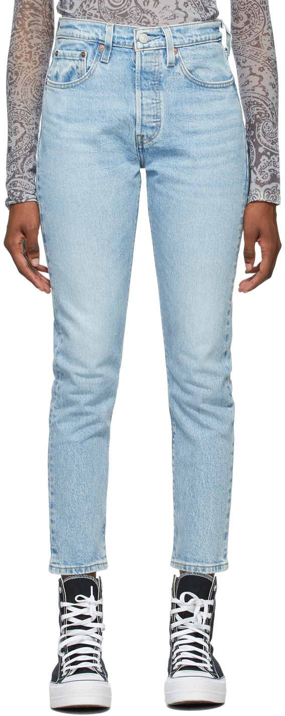 Levi's Blue Denim 501 Skinny Jeans