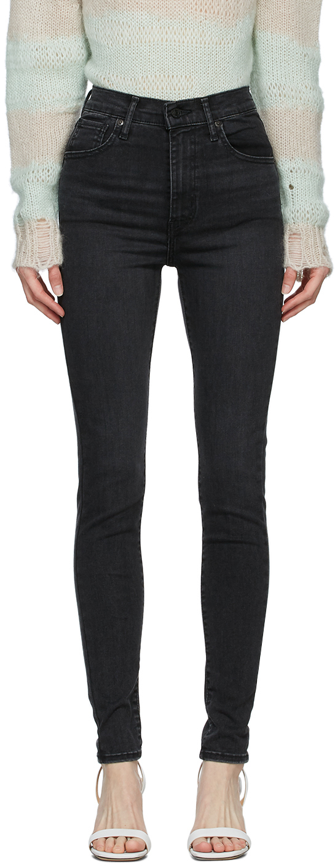 Levi's Black Faded Mile High Super Skinny Jeans