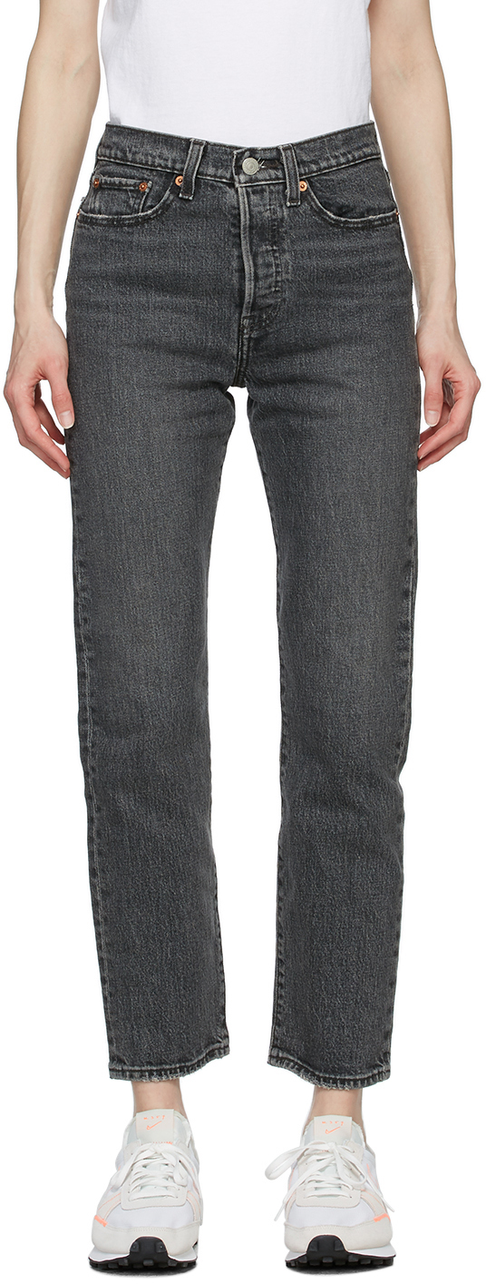 Levi's Grey Wedgie Straight Jeans