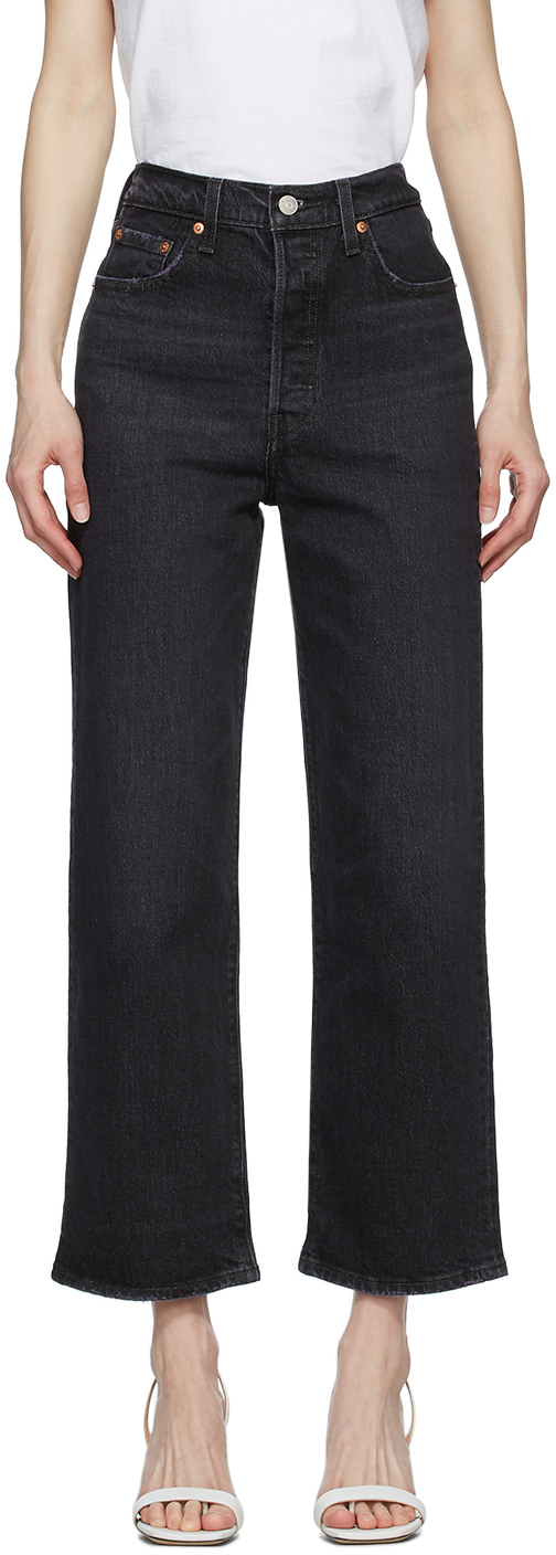 Levi's Black Ribcage Straight Ankle Jeans