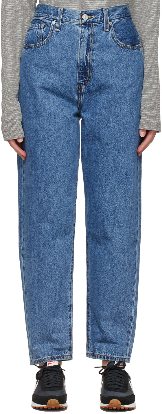 Levi's Blue High Loose Taper Jeans