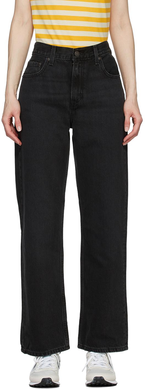 Levi's Black Loose Straight Jeans