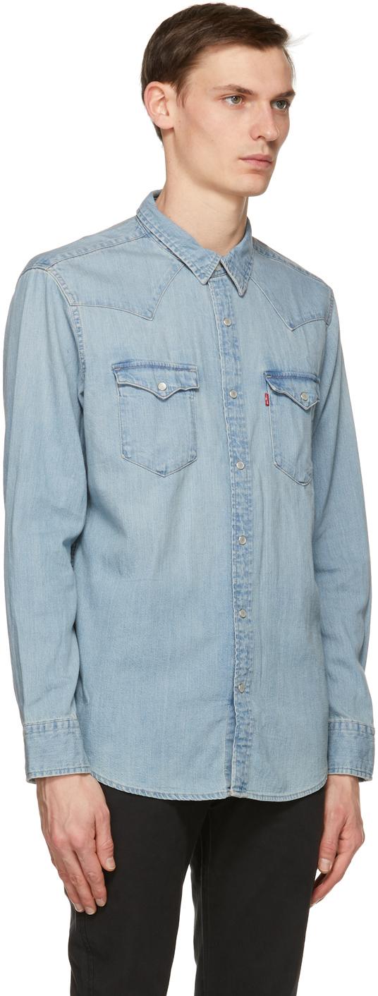 Levi's Barstow デニム ウエスタン シャツ