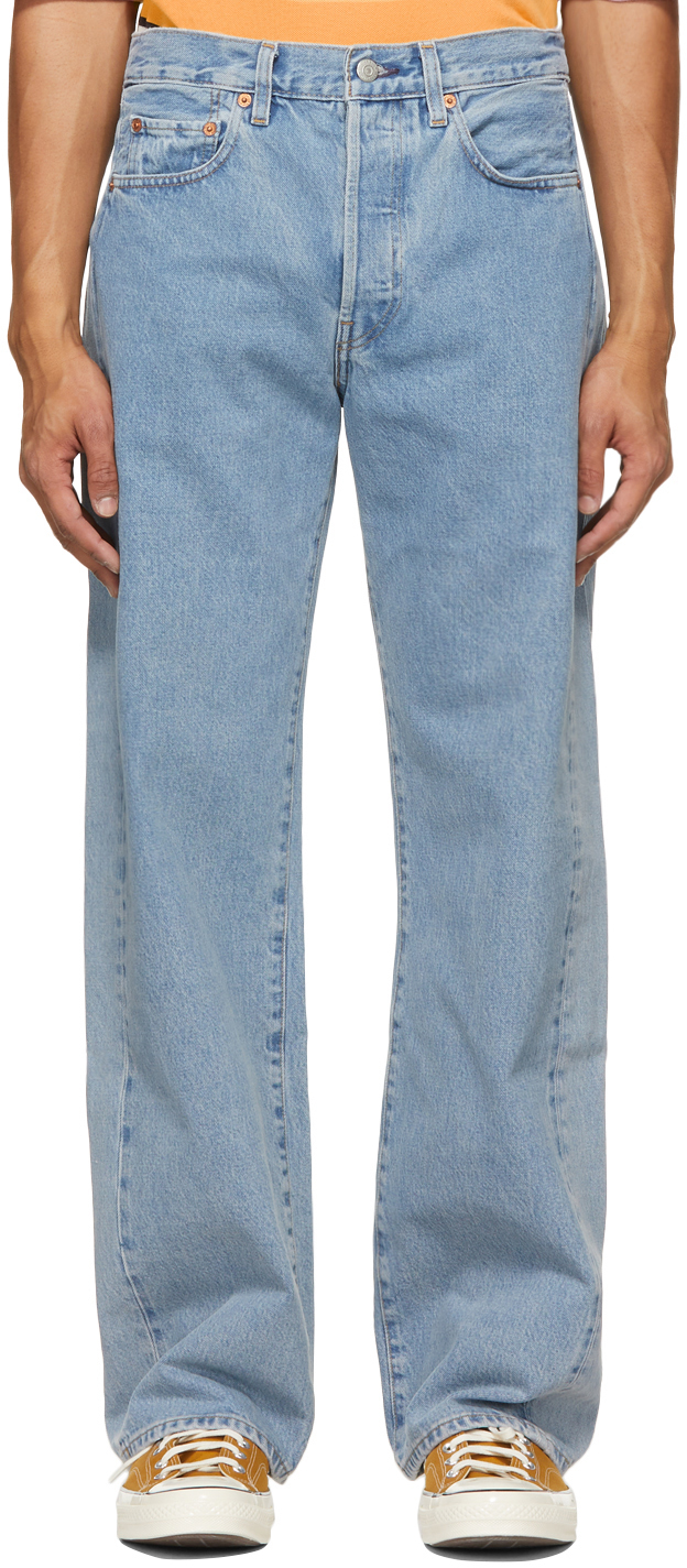 Blue Central Station Design Edition Embroidered Jeans