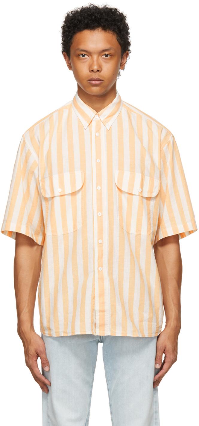 White & Orange Diamond Shirt