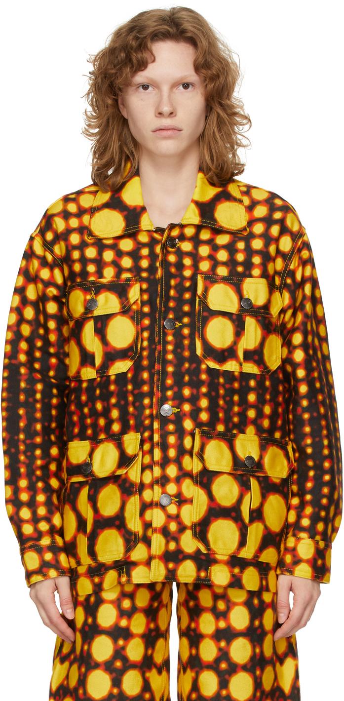 Orange Denim Art Jacket