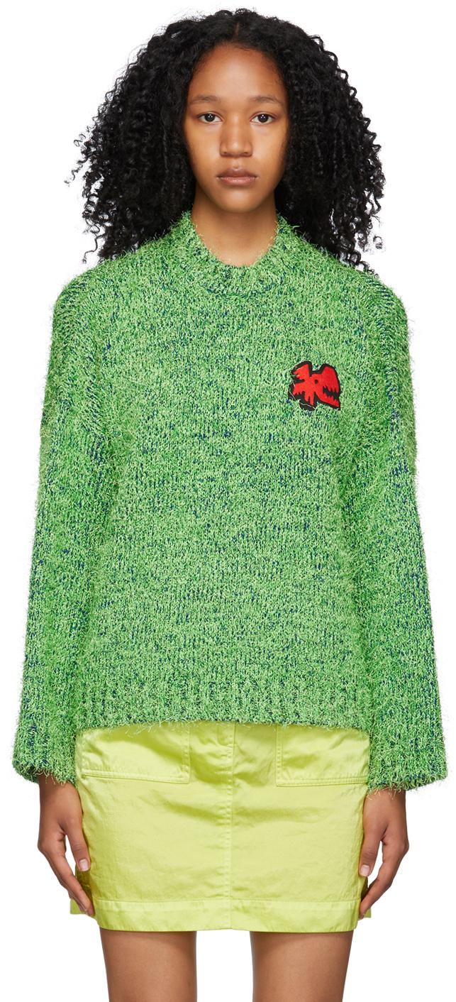 Green Lambswool Texture Sweater
