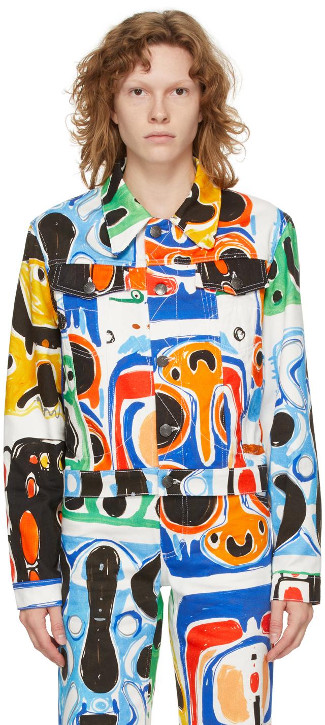 Multicolor Denim Art Jacket
