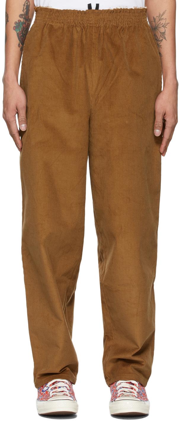 Brown Corduroy Grandpa Trousers