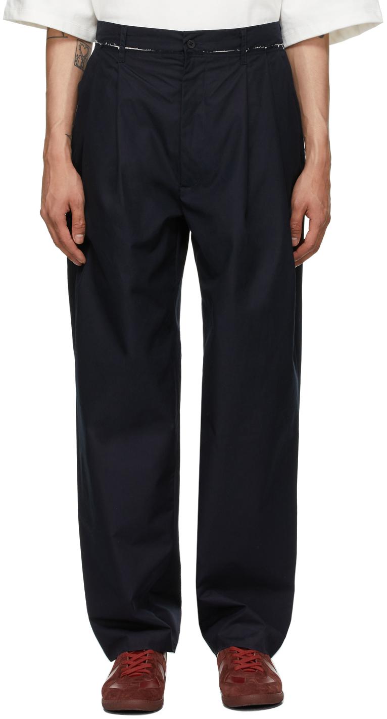 SSENSE Exclusive Navy Suit Trousers