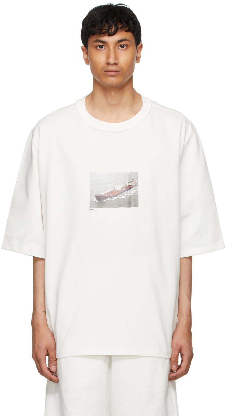 White Oversized 'Ship 2' T-Shirt