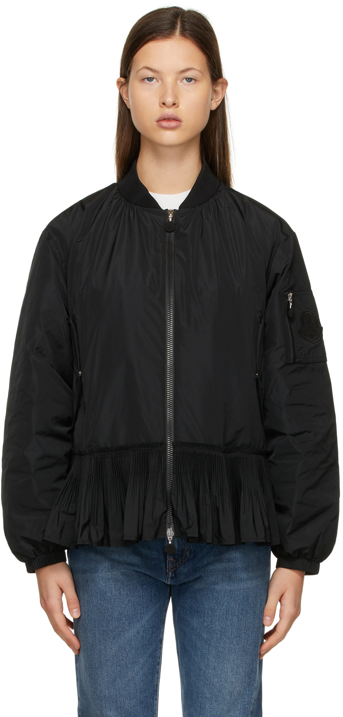 Moncler Black Down Mirac Bomber Jacket