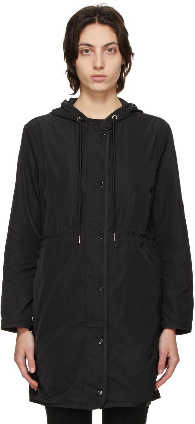 Moncler Black Lebris Coat
