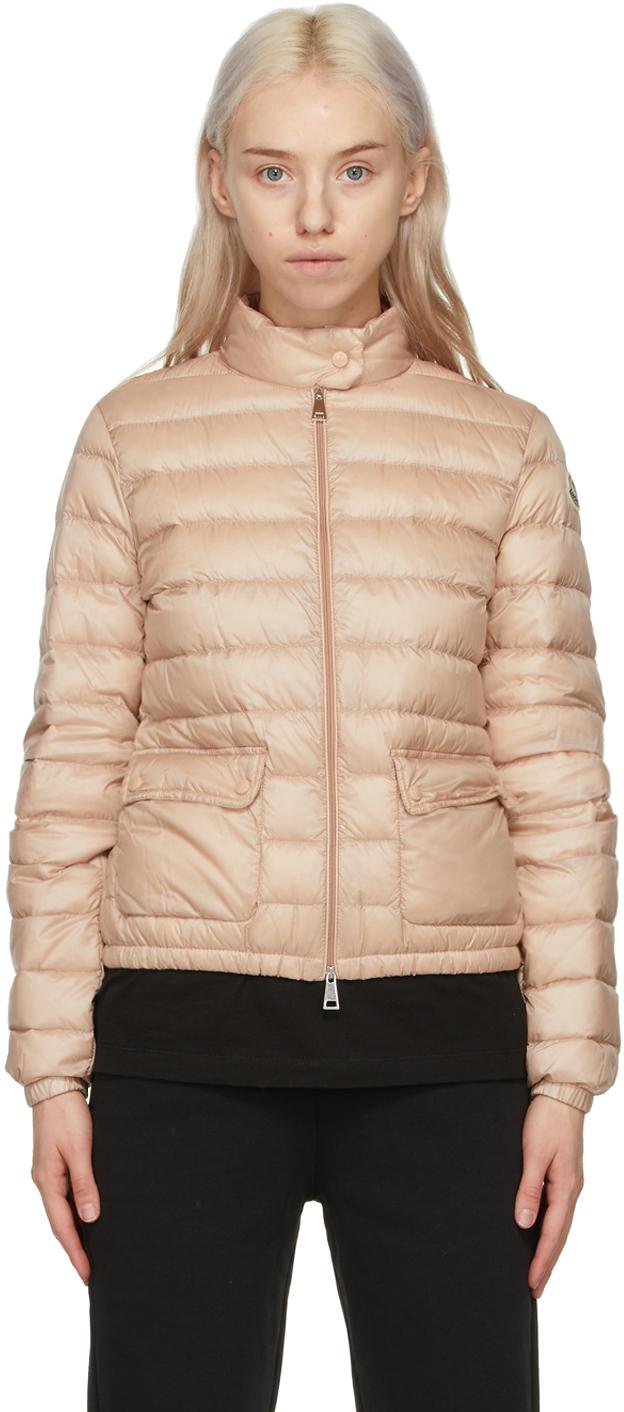 Moncler Pink Longue Saison Down Lans Jacket