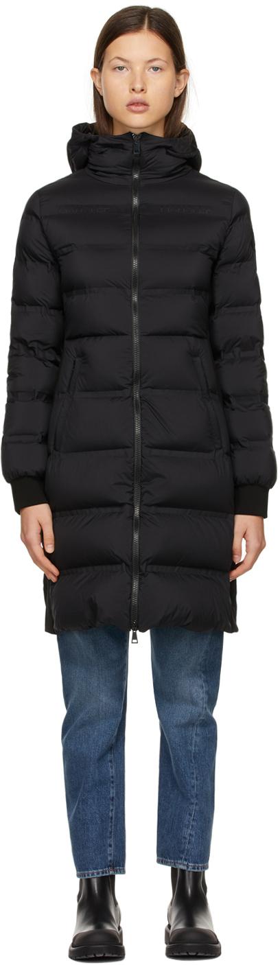 Moncler Black Down Sceptrum Coat