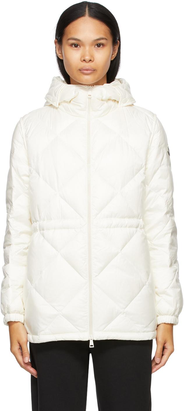 Moncler White Down Sargas Jacket