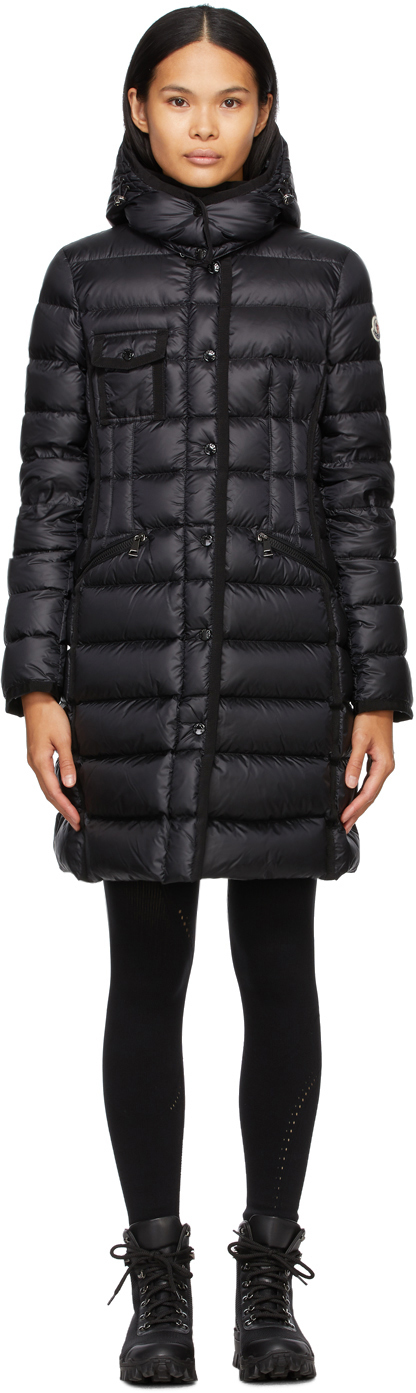 Moncler Black Down Hermine Coat