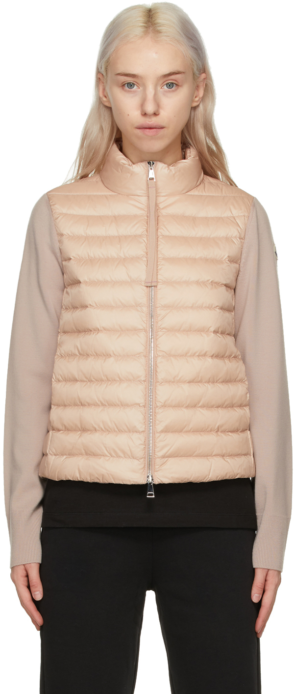 Pink Down Cardigan Jacket