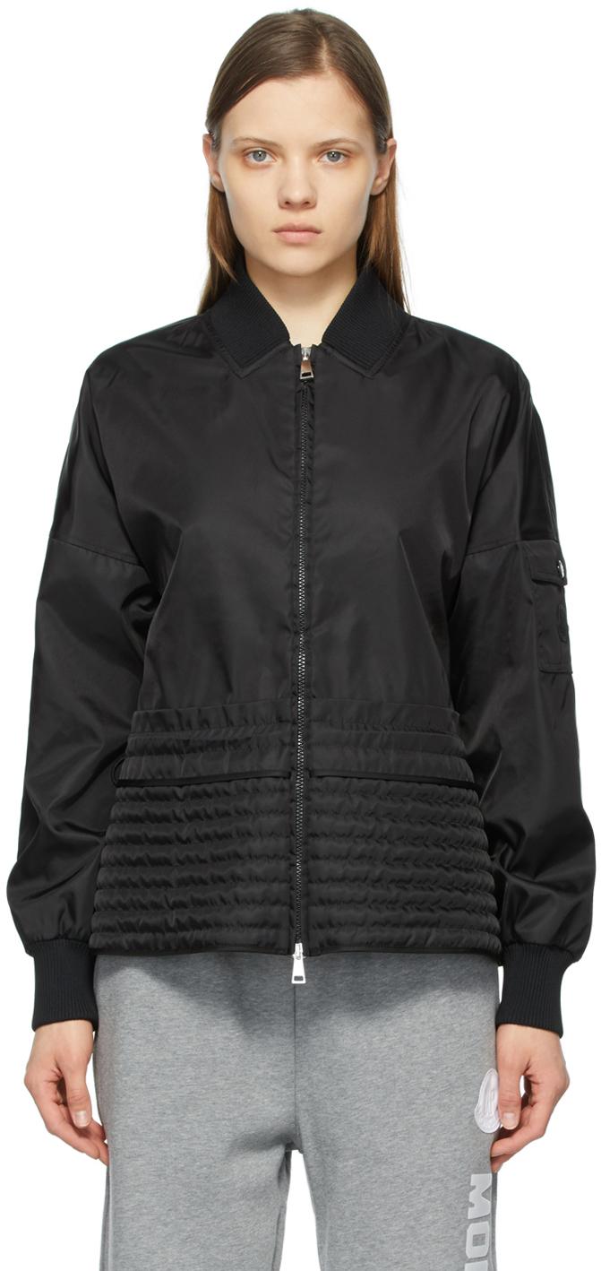 Moncler Black Peplum Baldah Jacket