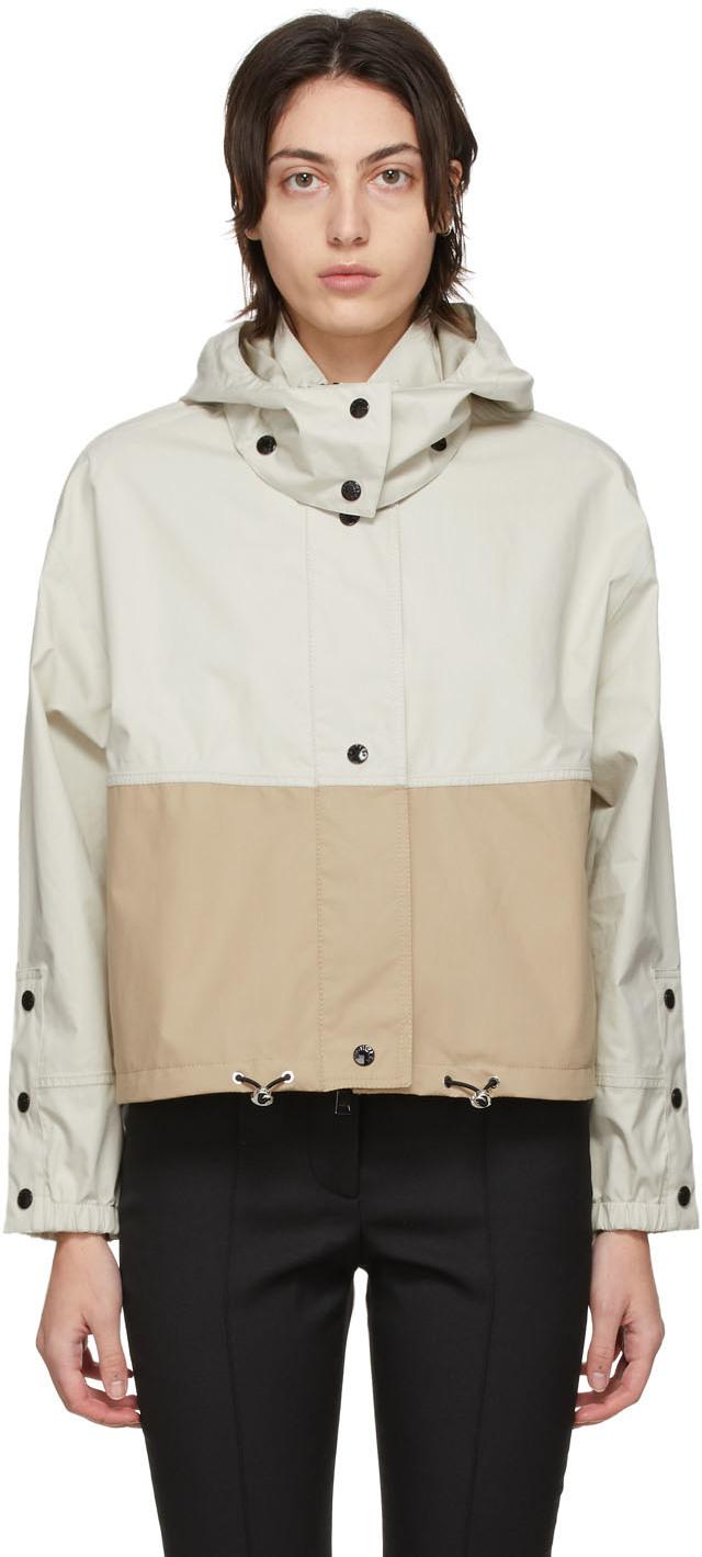 Moncler Beige Bicolor Akhamar Jacket