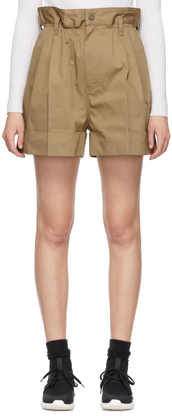 Brown Gabardine Shorts