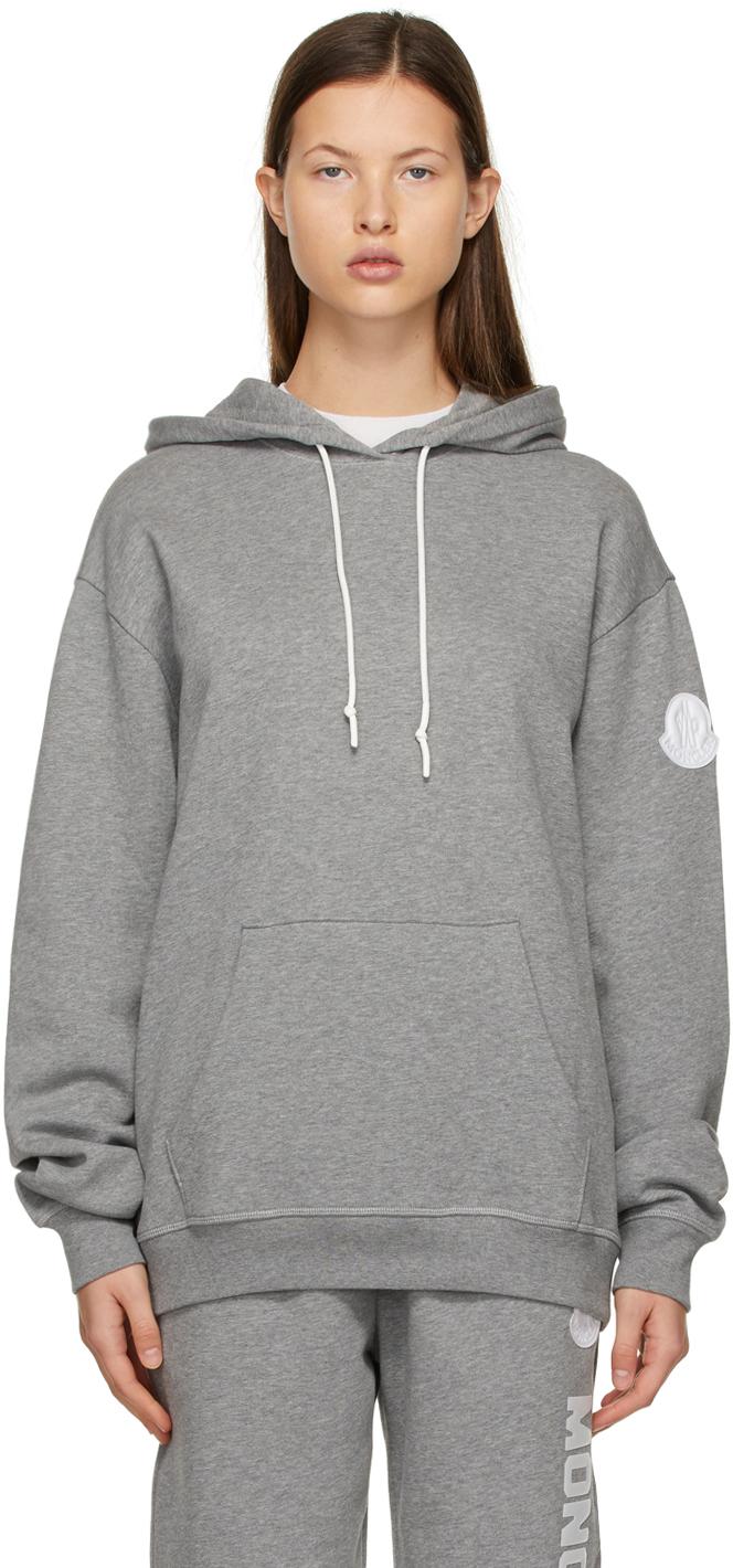 Grey Oversized Logo Hoodie