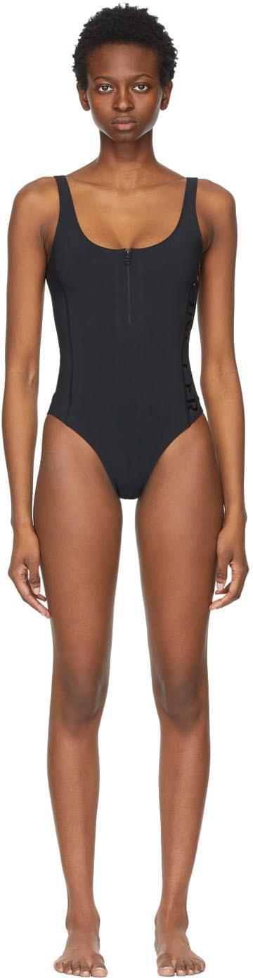 Black Matt Black Edition Logo One-Piece Swimsuit