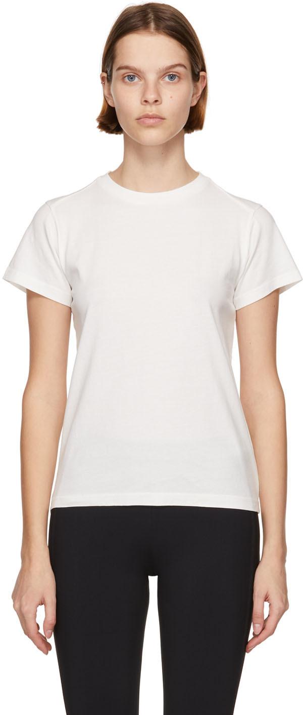 White Matt Black Logo Stripe T-Shirt