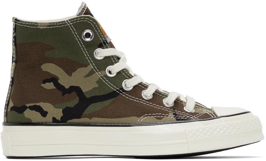 Green Converse Edition Camo Chuck 70 Hi Sneakers