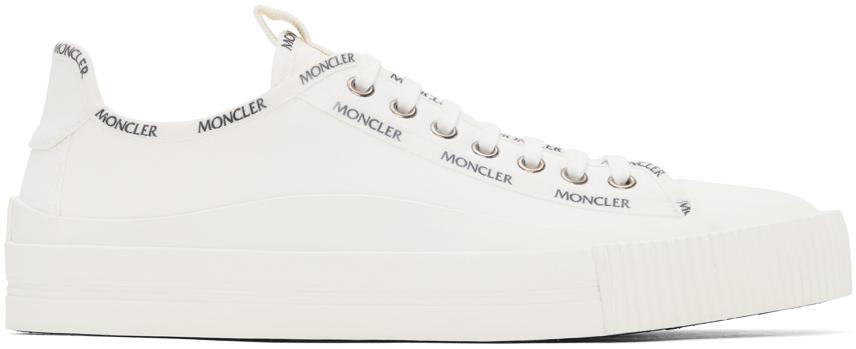 White Canvas Glissiere Sneakers