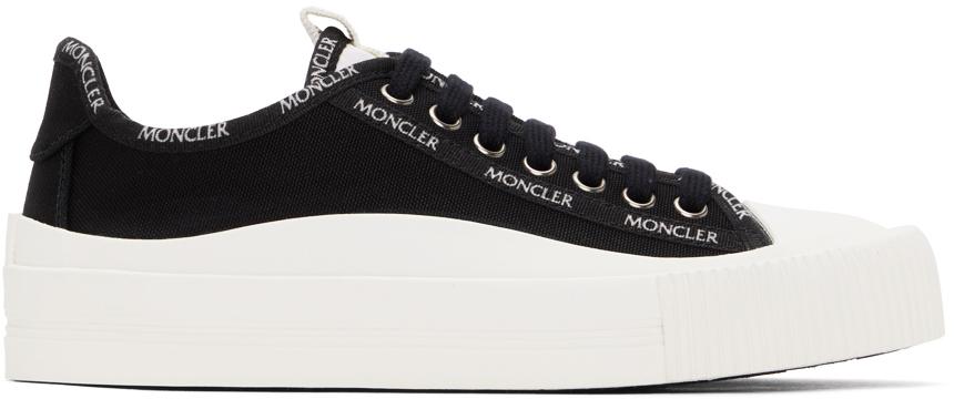 Black Canvas Glissiere Sneakers